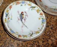 THEODORE HAVILAND LIMOGES  DESSERT BOWL IN ARCADIA EXOTIC BIRD PATTERN