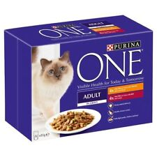 Purina One Adult Meat with Chicken & Beef Pouch 8 x 85g (PACK OF 2)