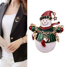 Elegant Women's Christmas Snowman Brooch Pin Xmas Gifts Fashion Jewelry