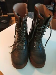 Vintage Men's HODGMAN A-87 Insulated Green Rubber Boots  Size 9 Slightly Used