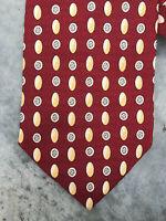 Silk Handmade Red Silk Patterned Dinghao Polkadot Mens Tie Necktie