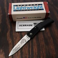 SCHRADE KNIFE MADE IN USA #SP3 LIGHTWEIGHT LOCKBACK POCKET HOOKED ON FISHING