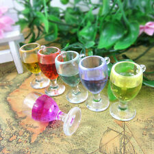 5pcs Miniature Dollhouse Kitchen Bar Red Wine Cup Mni World DIY Home Phone Decor