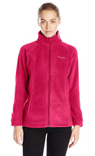 COLUMBIA Benton Springs Full Zip Fleece Jacket Women S Pomegranate NWT~FnF