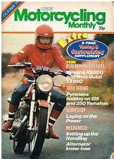 Motorcycling monthly Oct 1976  Yamaha XS500 Moto Guzzi T3 850 Honda CB250 Z650