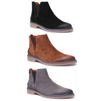 Justin Reece 1400 Womens Suede Leather Grey Chelsea Flat Boots UK Size 3 - 8