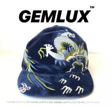 GUCCI Dragon Embroidered Velvet baseball cap Size M