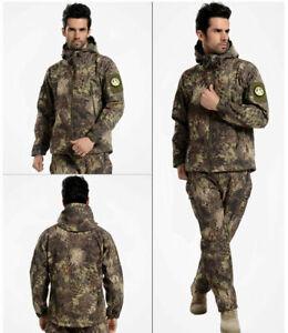 MANDRAKE Softshell Waterproof Jacket Pants Sharkskin Kryptek Hunting Hoodie Men