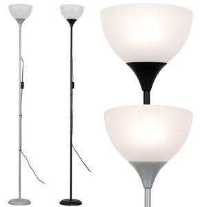Modern Tall Single Stem 180cm Floor Lamp Standard Uplighter Light + LED Bulb