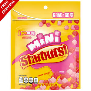 Starburst FaveReds Minis Chewy Candy Bag, 8 oz Free shipping + Best price