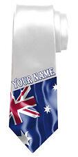 Bandera australiana Personalizado Cuello Corbata * cualquier name/text * llamado Regalo para cualquier hombre *
