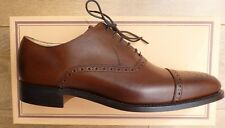 Barker Shoes Mens Oxford Semi Brogue Brown Calf lea Size 7.5G, Goodyear Welted