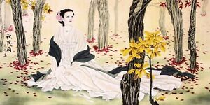 100% HANDPAINTED ASIAN FAMOUS FINE ART CHINESE FIGURE PAINTING-Beauty&flowers