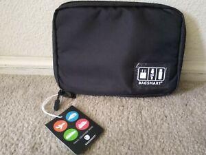 BAGSMART electronic organizer travel cable portable bag for cords usb black
