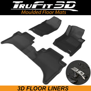 Trufit Floor Liners for Mitsubishi Triton Dual Cab MQ2/MR 2017-20 3D Rubber Mats