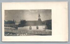 "Tadoussac Quebec Church RPPC Eglise—Rare Antique CPA Photo ""1647"" Colonial 1910s"