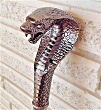 Cane King Cobra Metallic Pharaoh Vintage Style Serpent Striking Walking Stick