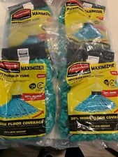 Lot of 4 Rubbermaid Commercial Products Maximizer #24 Microfiber Tube Mop Head
