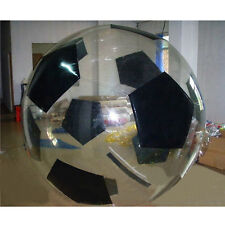 MIL 2M Water Walking Roll Inflatable Zipper Zorbing Ball Black Football Style