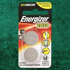 Energizer CR2032 Lithium Coin Cell 3V Battery DL2032, BR2032, SB-T15 [2 PACK]