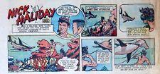 Nick Haliday by Keats Petree - scarce color Sunday comic page - November 1, 1953