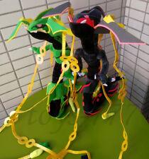 "2X Pokemon Center Mega Rayquaza 33"" Black And Green Stuffed Animal Plush Toys"