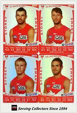 2011 AFL Teamcoach Trading Cards Silver Parallel Team Set Sydney (11)