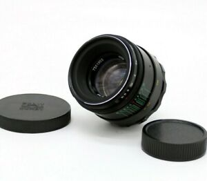 LENS HELIOS 44-2 F2.0 58mm USSR with adapters for Canon Nikon Sony Fuji EXC+++