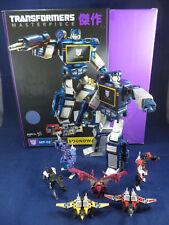 Transformers Masterpiece Soundwave MP02 complet + Ratbat 6 Cassettes MP13B