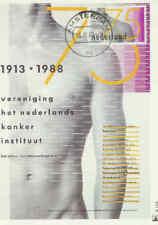 Nederland Maximumkaart 1988 Molenreeks R158 - Kankerinstituut