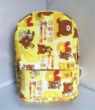 """Rilakkuma san-x bee 15"""" canvas backpack shoulder bag school bags new"""