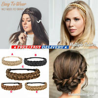 Hair Styling Synthetic Hair Band Bohemian Plait Twisted Braided Wig Headband HOT