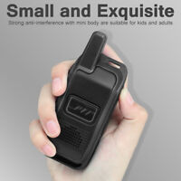 US Plug 16CH UHF 400-470Mhz Mobile 6km Mini Walkie Talkie Handheld Two Way Radio