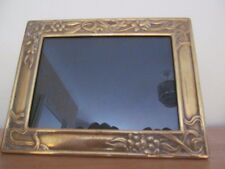 SUPERB   VINTAGE FLORAL ART NOUVEAU BRASS PHOTO / PICTURE FRAME.