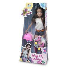 Soy Luna Muñeca con Patines  Casco y Colgante Fashion doll  Juguete Niña +3 Años