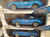 Miasto 1:18 Porsche Gt3 Rs 4.0 BLUE RARE 911 Special Edition