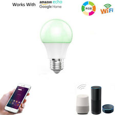 Smart LED RGB Color Light Bulb With Alexa Google Home WIFI Remote Control Bulbs