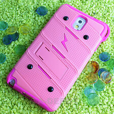 For Samsung Galaxy Note 3 III Baby Pink Armor Holster Ultra Premium Case Stand