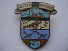 CWW2 VINTAGE UNITED V.K.FORCES P.R.O ENAMEL PIN BADGE