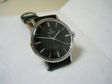 OMEGA SEAMASTER DE VILLE AUTOMATIC BLACK DIAL STAINLESS STEEL 1960 WATCH