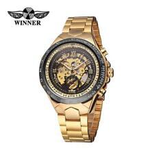 WINNER Hochwertige Männer Halbautomatische mechanische Uhr Dial Armbanduhr U3X4