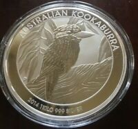 2014 1 Kilo .999 Silver Australian Kookaburra Coin