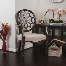 Elegant Design Wood Accent Armchair