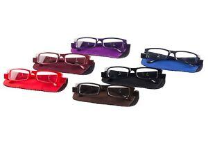 LED Lesebrille Lesehilfe Nachtbrille Sehhilfe Mit Licht inkl. Batterien Farbig