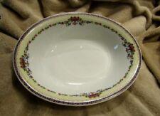 "Antique 1930s Victoria China DORSET Czechoslovakia 10"" Oval Serving Bowl PERFECT"