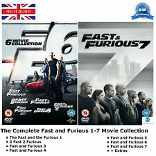 Fast and Furious 1 - 7 The Complete Series 1 2 3 4 5 6 7 + Extras NEW UK R2 DVD