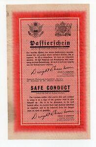 Flugblatt Passierschein  Kriegsgefangenschaft WK2 POW Kapitulation