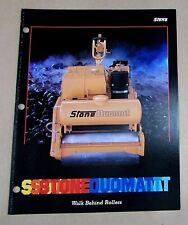Old 1988 Stone Duomat Construction Equipment Walk Behind Roller Brochure FREE SH