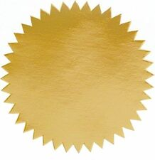 "Shiny Gold Foil Seal Certificate Labels, Pack of 50, 2"" Diameter"