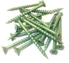 4mm x 50mm Entablado Tornillos. Verde Exterior Anti-corrosion. Paisaje